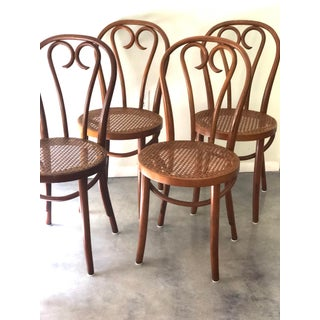 Vintage Thonet Sweetheart Bentwood Cane Bistro Cafe Chairs--Set of 4 Preview
