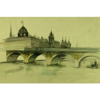 French Painting of Pont Nôtre-Dame, Paris, C. 1915 For Sale