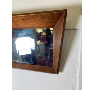 Vintage Mid Century Wood Unusual Framed Mirror Preview