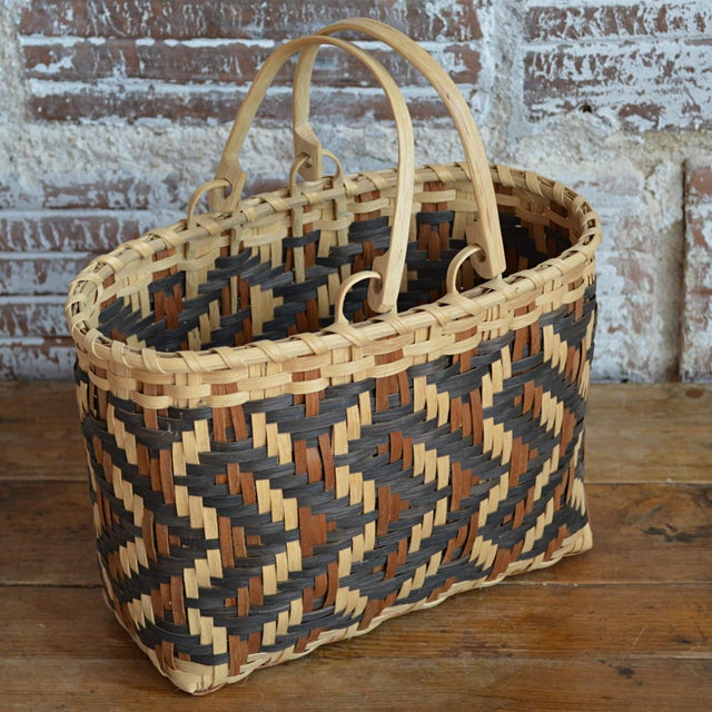 Carol Welch Cherokee White Oak Purse Basket - Image 7 of 10