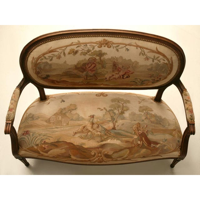 Louis XVI Aubusson Upholstered Settee - Image 11 of 11