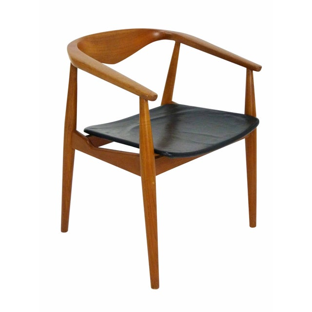 Danish Modern Teak Barrel Arm Chair - Image 1 of 10