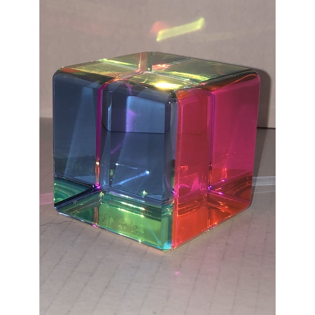 Vasa Acrylic Prism Cube by Vasa For Sale - Image 4 of 9