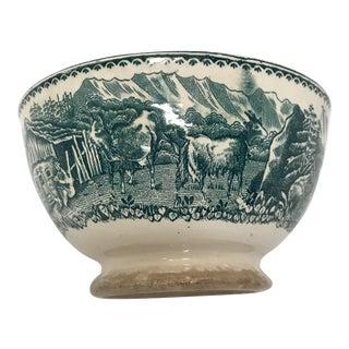 Antique Belgian Transferware Bowl For Sale