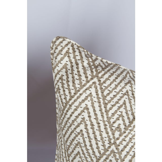 2010s Tahitian Stitch Ikat Pillows - A Pair For Sale - Image 5 of 5