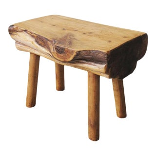 1970s Vintage Natural Form Dowel Leg Stool For Sale