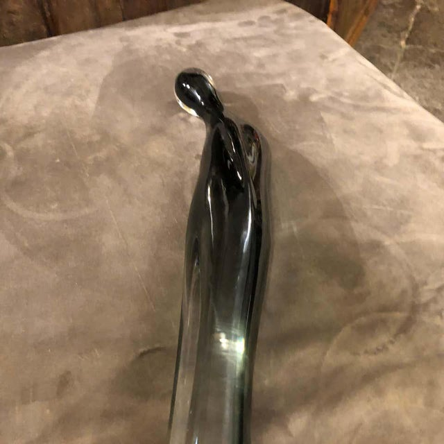 Italian 1980s Italian Modernist Murano Glass Sculpture of a Madonna For Sale - Image 3 of 10