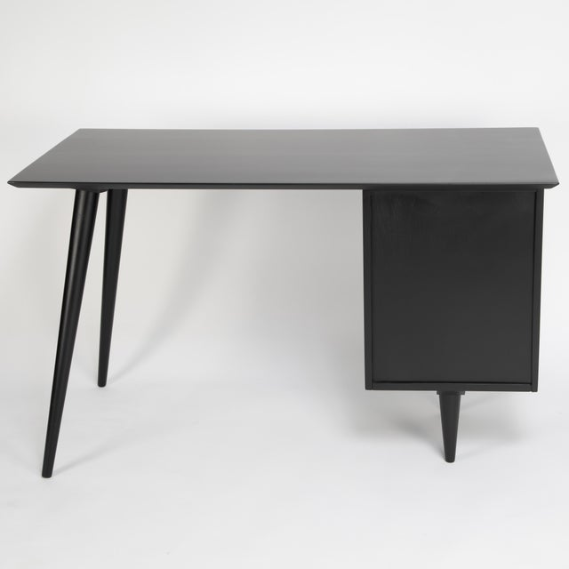 Metal Paul McCobb Desk With Tapered Legs C. 1950s For Sale - Image 7 of 13