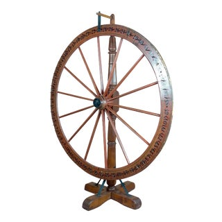 19th Century Large Saloon Gaming Spinning Wheel of Fortune For Sale