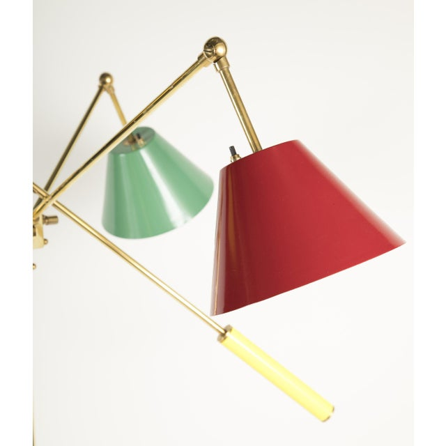 Red Triennale Floor Lamp Attributed to Gino Sarfatti For Sale - Image 8 of 9