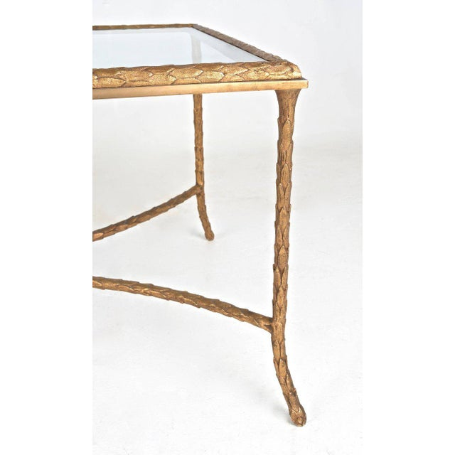 Mid-Century Modern French Gilt Bronze Cocktail Table in the Style of Maison Baguès, circa 1950s For Sale - Image 3 of 7