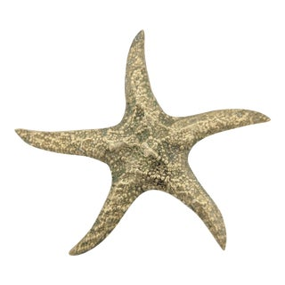 Mid-Century Modern Nautical Brass Starfish Sculpture / Paper Weight