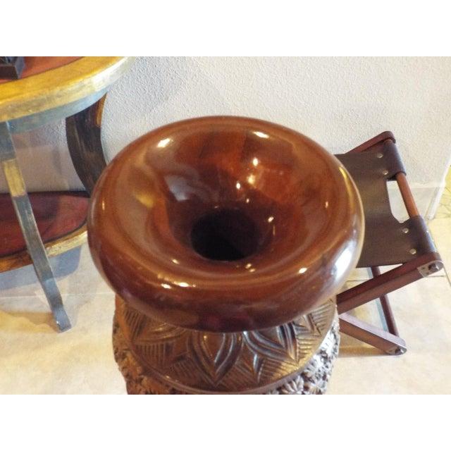 Thai Carved Wood Vases - Pair - Image 9 of 9