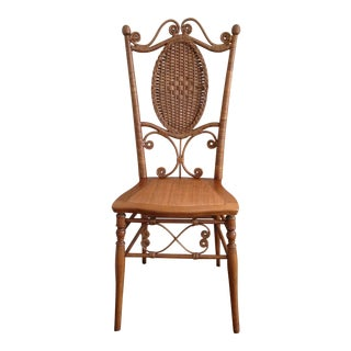 Heywood Brothers Wakefield Antique Victorian Wicker and Cane Chair