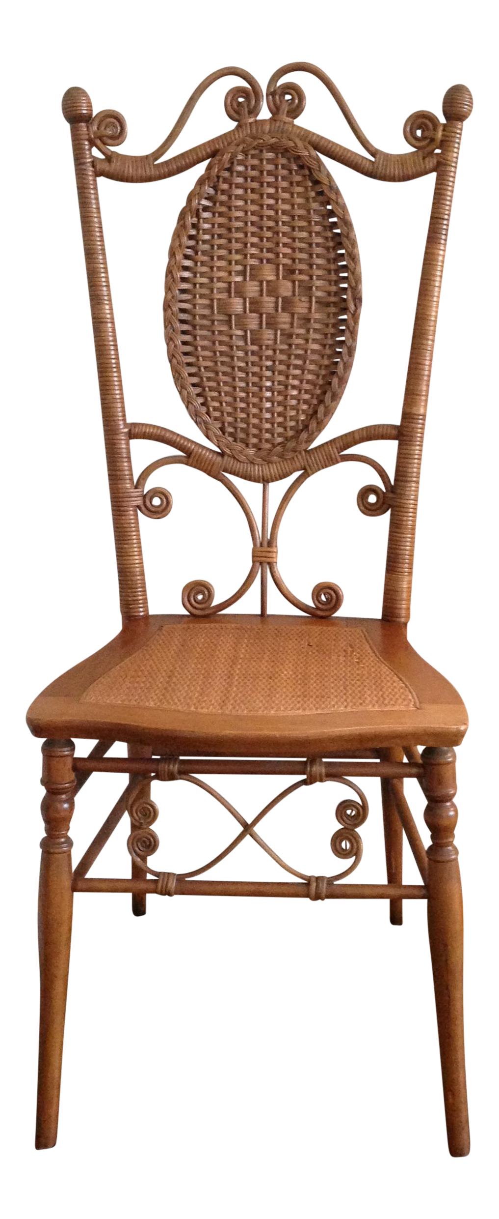 Heywood Brothers Wakefield Antique Victorian Wicker And Cane Chair   Image  1 Of 9