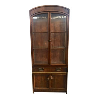 Mid Century Modern Display Cabinet Hickory Furniture Company For Sale