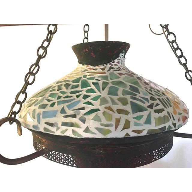 Vintage 1940s Mosaic Ceiling Lamp - Image 7 of 10