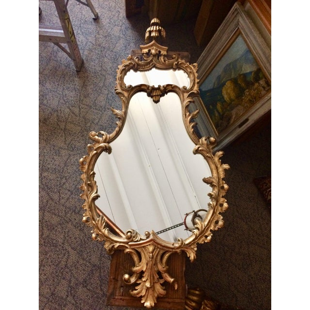 19th Century Italian Gilt Wood Mirror For Sale In Tampa - Image 6 of 6