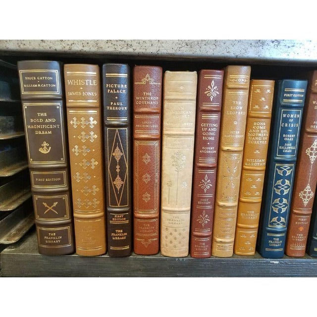 Collection of Franklin/Eaton Vintage Leather Books - Set of 40 For Sale In Milwaukee - Image 6 of 8