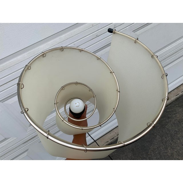Gray Memphis Spiral Torch Lamp For Sale - Image 8 of 11