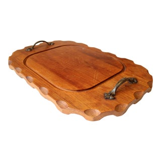 Vespers Solid Wood Cutting Board With Metal Handles For Sale