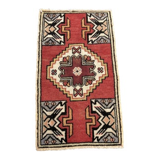"Antique Turkish Oushak Welcome Mat - 1'7"" x 2'10"""