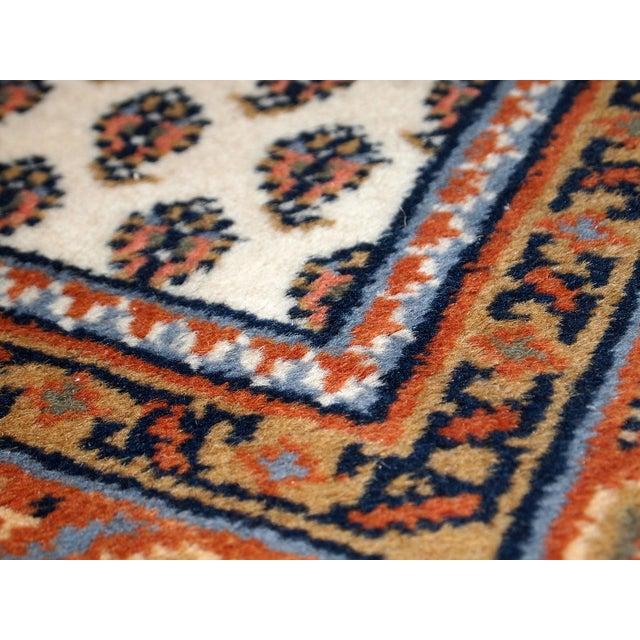 Vintage Handmade Indian Seraband Style Rug - 4′ × 5′8″ - Image 2 of 10