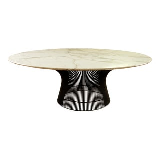1960s Boho Chic Warren Platner Bronze and Marble Coffee Table For Sale