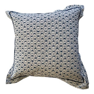 Gray and Blue Pillow For Sale