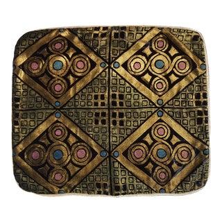 Mosaico 1 Silk Velvet Pillow Cover For Sale