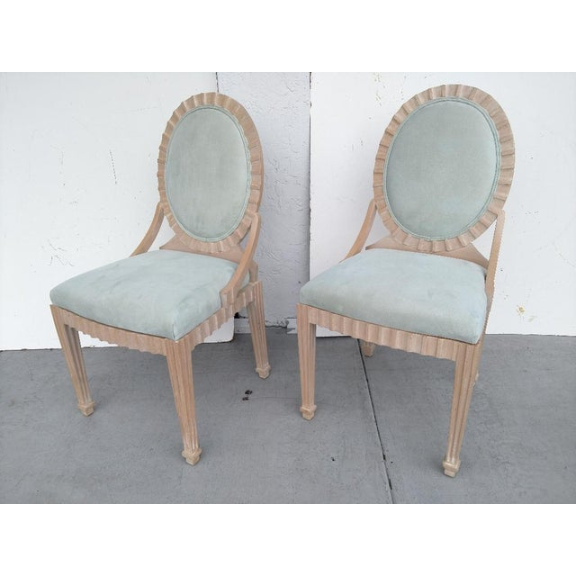 John Hutton Vintage, Fluted Wood, Oval Backed Side Chairs - a Pair For Sale - Image 9 of 9