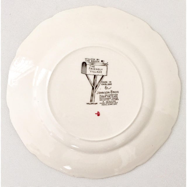 """1950's Johnson Brothers English """"Friendly Village"""" Dinnerware - Set of 17 For Sale - Image 11 of 13"""