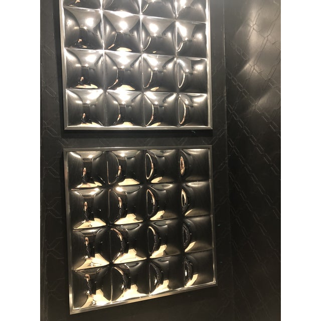 1970s 1970's Mirrored Acrylic Op-Art Panels - Set of 4 For Sale - Image 5 of 8
