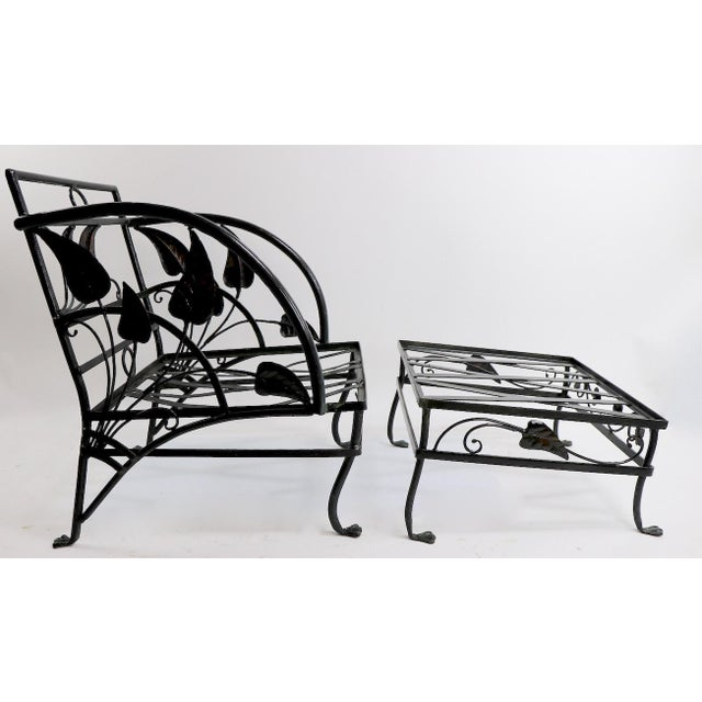 Banana Leaf Lounge Chair and Ottoman by Salterini For Sale - Image 11 of 13
