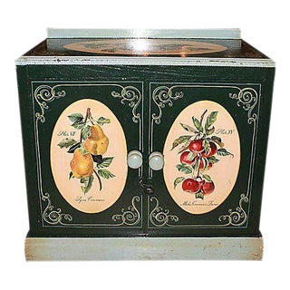 1860s Danish Decorated Cabinet & Washstand For Sale