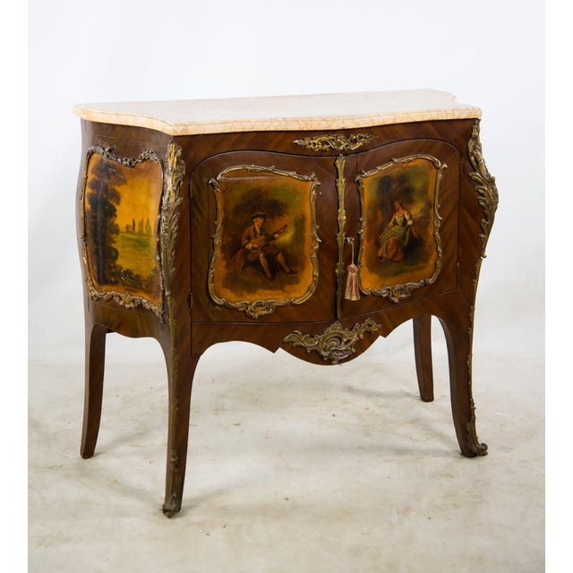 Add a touch of grandeur to your dining room with this stunning antique treasure! This 19th c. French Vernis Martin style...