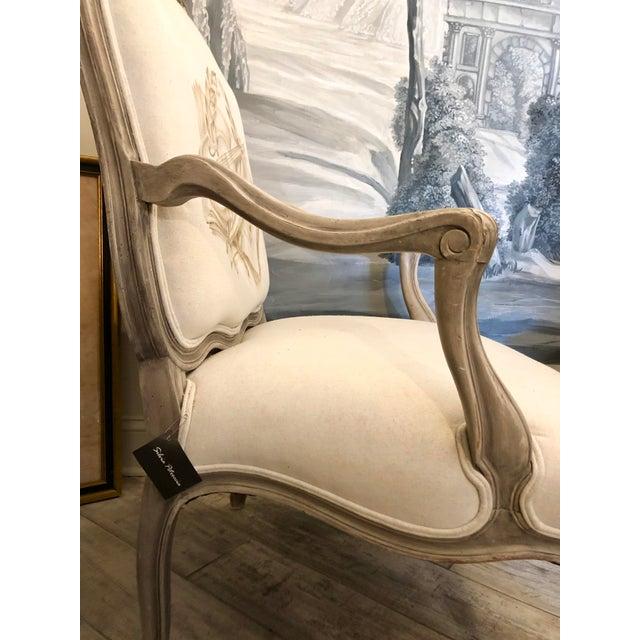 Italian Mid-Century Louis XV Style Hand-Painted Fauteuils - a Pair For Sale - Image 10 of 13