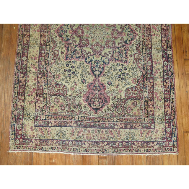 19th Century Lavar Kerman Rug, 4' x 6'4'' For Sale - Image 10 of 11