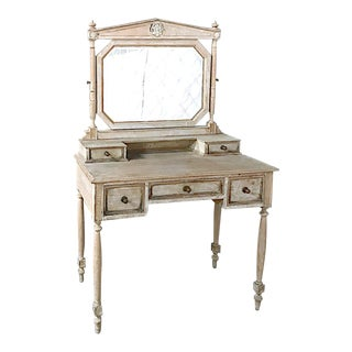 19th Century French Louis XVI Painted Vanity For Sale