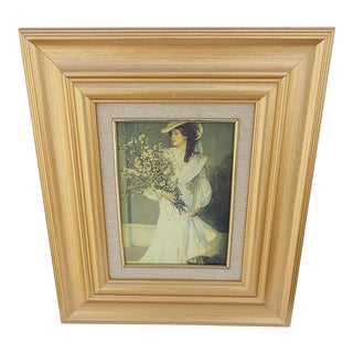 Mid 20th Century Portrait of a Victorian Lady Oil Painting, Framed For Sale