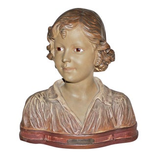 Antique French Terracotta Bust For Sale