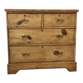 Antique English Pine Chest of Drawers For Sale