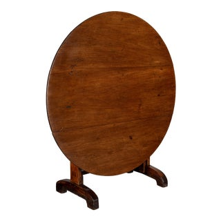 19th C. French Wine Tasting Table or Tilt-Top Table For Sale