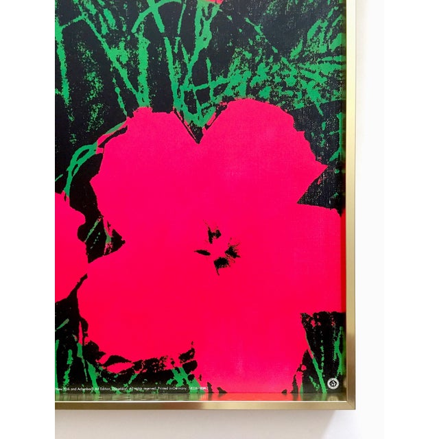 "Andy Warhol Foundation Rare Vintage 1993 Lithograph Print Framed Iconic Pop Art Poster "" Flowers "" 1964 For Sale - Image 12 of 13"