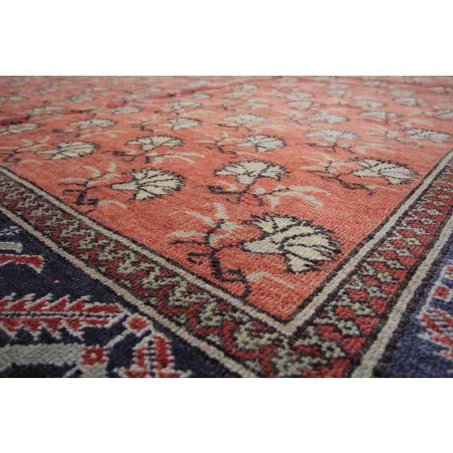Islamic Vintage Tribal Antique Turkish Oushak Hand Knotted Rug - 6' X 9' For Sale - Image 3 of 4