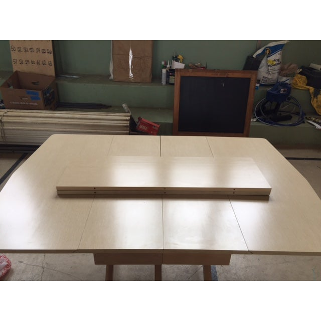 Mid Century Blonde Dining Table - Image 6 of 6