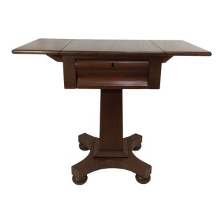 Mid 19th Century Empire Drop Leaf Side Table For Sale