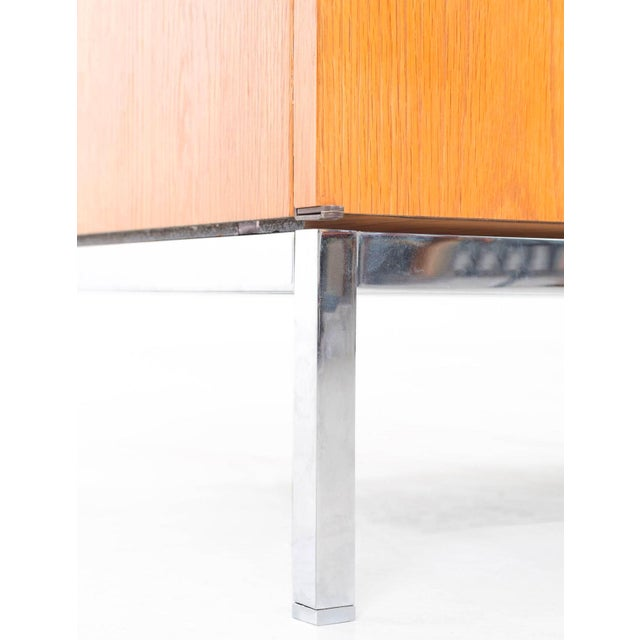 Orange Florence Knoll White Oak Credenza with Carrara Marble Top For Sale - Image 8 of 11