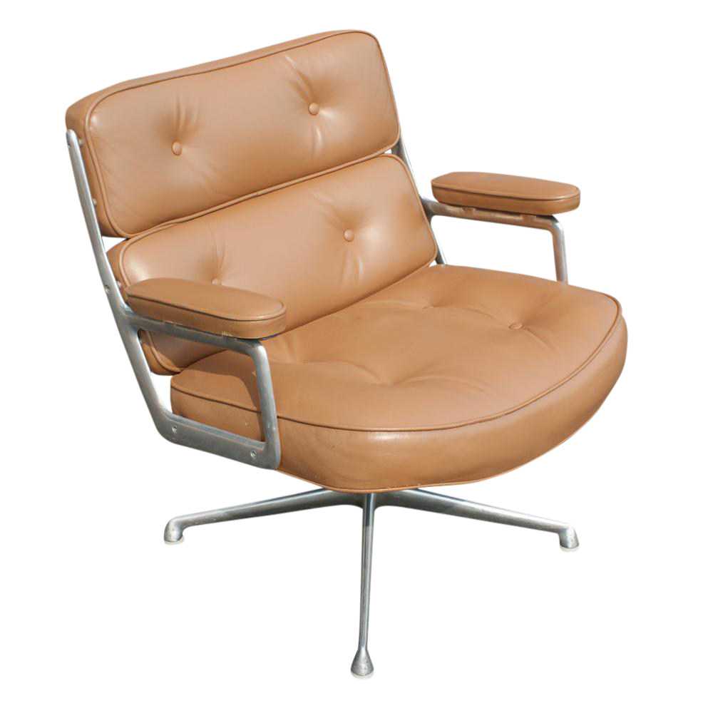 Herman Miller Time Life Lounge Leather Chair U0026 Ottoman   Image 2 Of 10