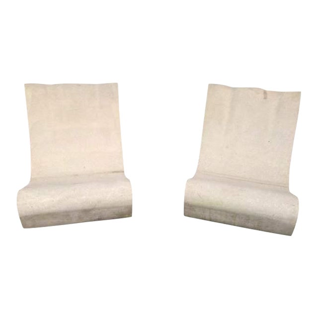 Outdoor Mid-Century Modern Lounge Chairs - A Pair - Image 1 of 4